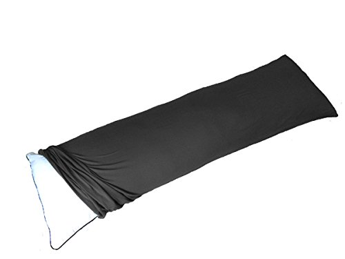 Exclusive! Stretch Jersey Body Pillowcase, Modal Rayon Spandex 180 Gram, Oversize Bag Style Pillow Cover 20x60 Inches, Fit 20x54 Inches Body or Pregnancy Pillow, Soft Than Cotton, Black
