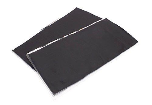 GTMat Onyx 100% Butyl Stop Rattling License Plate Kit Car Sound Deadener Sheets (2 Sheets of 4