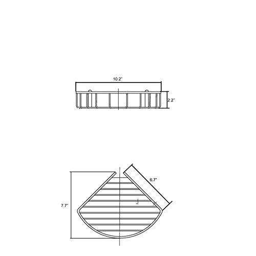 Corner Basket Shelves by MAMOLUX ACC| Solid Brass Shower Basket Shelf Tidy Rack Caddy Storage Organizer Chrome Finish|Space Saving Toiletries/Cosmetics Holder by Marmolux Acc (Image #5)