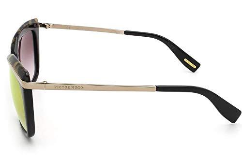 b0a50a4698c55 Óculos de Sol Victor Hugo Sh1739 700g 55 Preto tartaruga  Amazon.com.br   Amazon Moda