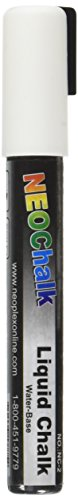 NeoChalk Liquid Chalk Marker Chisel Tip - White