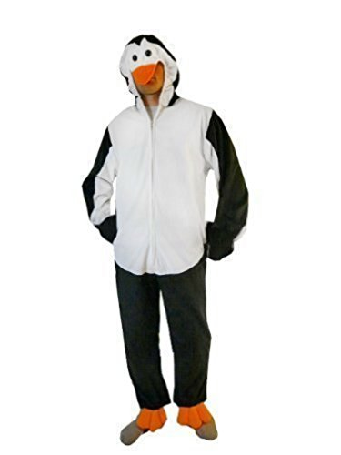 Mens Lion Costume Ideas (Fantasy World Penguin Costume Halloween f. Men and Women, Size: M/ 08-10, J35)