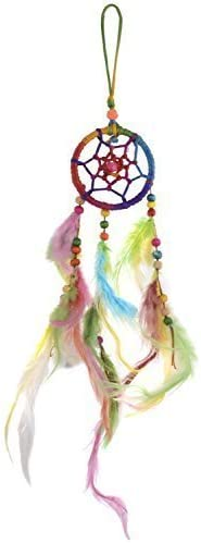 Odishabazaar Multi Dream Catcher Wall Hanging for Car - Attract Positive Dreams (Small)