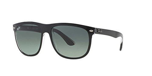 Ray-Ban Mens Gradient Collection Sunglasses (RB4147) Black/Grey Plastic,Nylon - Non-Polarized - - 4147 Polarized