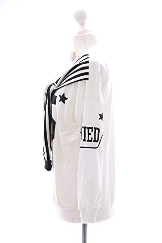 T-21 Twin-Optik weiß Pullover Sweatshirt Harajuku Trend Fashion Japan Kawaii-Story