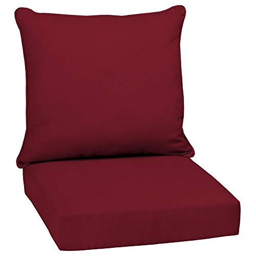 Arden Selections 24 x 24 Caliente Canvas Texture 2-Piece Deep Seating Outdoor Lounge Chair Cushion