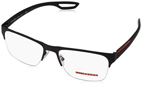 Prada Linea Rossa Montures de lunettes 55F Pour Homme Black Rubber, 54mm DG0-1O1: Black Rubber