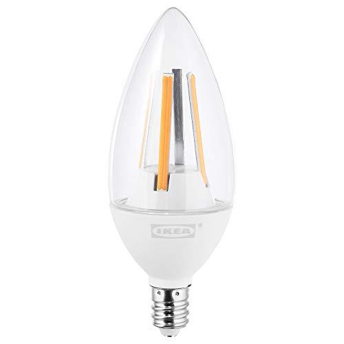 IKEA 403.888.10 Ledare - foco LED (E12, 400 lúmenes, intensidad regulable, lámpara de araña), color transparente