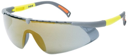 Gray//Yellow Frame Liberty Glove /& Safety G1758GM Liberty ProVizGard Gravity Protective Eyewear Gold Mirror Lens Case of 12 Pairs