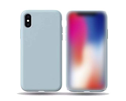 Phone Case for iPhone Xs MAX Pure Color Liquid All-Inclusive Baby-Skin Feeling Feel for iPhone XR X 8 7plus Coque Funda,Sky Blue,for iPhone Xs MAX