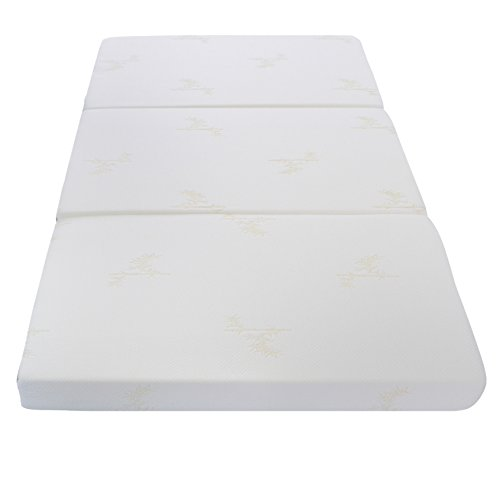 Milliard Tri Folding Mattress Twin, with Ultra Soft Removable Cover and Non-Slip Bottom (Twin)