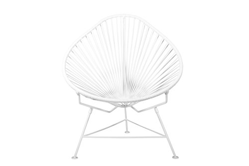 Cheap  Innit Designs Baby Acapulco Chair, White Weave on White Frame