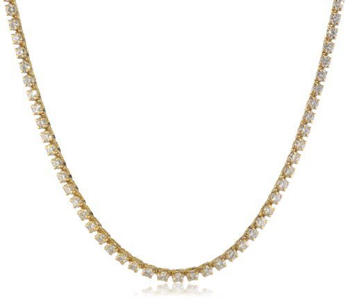 IGI-Certified-14K-Yellow-Gold-Diamond-Tennis-Necklace-600-cttw-H-I-Color-I1-Clarity-17