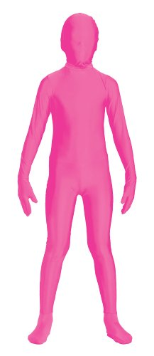 [Forum Novelties Women's Teen Disappearing Man Color Stretch Body Suit Costume, Neon Pink,] (Pink Man Suit)