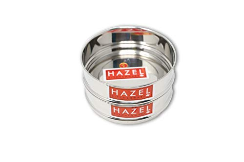 Hazel Alfa Stainless Steel Stackable Seperator, Cooker Dabba for 3 LTR Pressure Cooker – 13 cm, Set of 2 Price & Reviews