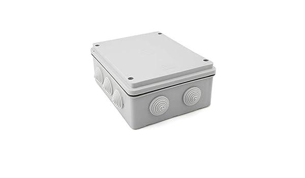 Caja de empalme superficie gris estanca 200x155x80mm IP55: Amazon.es: Bricolaje y herramientas