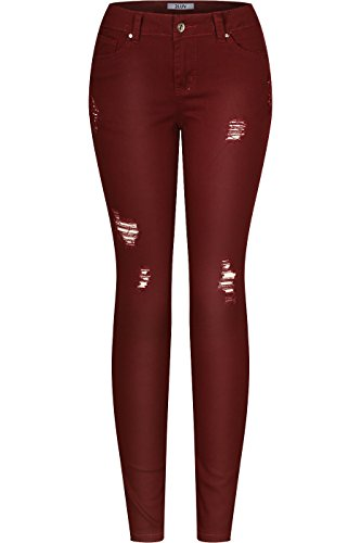 red skinny jeans for juniors - 9