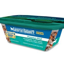 Natural Balance Delectable Delights Pawpaya Pilaf Dog Stew Formula Whitefish, Tuna, Turkey and Papaya 8 oz (12 in a case)