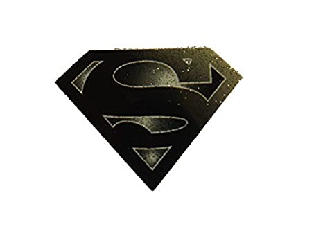 small black superman logo smooth iron on heat transfer clothes patch