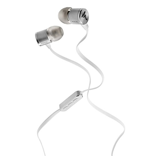 Focal Spark In-Ear Headphones with 3-Button Remote and Microphone (Silver) -  SPARKSILVE