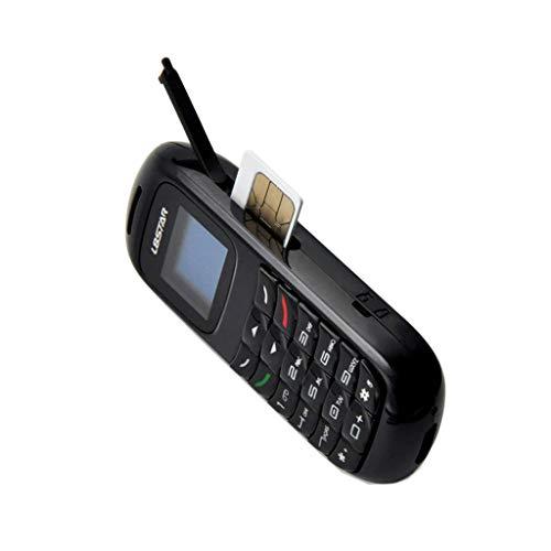 HankuBM70 Mini Small GSM Mobile Phone Bluetooth Dialer Earhook Headset Cellphone (White)