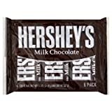 Hershey's Milk Chocolate Bars, 6-Count, 1.55-Ounce Bars (Pack of 3)