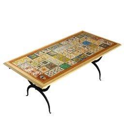 Tavoli Da Giardino Decorati.Dafnedesign Com Tavolo Con Mosaico Da Giardino E Da Taverna Mod