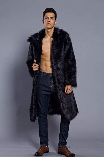 Longue Faux Schwarz Vêtements Manteau Veste Fourrure Fausse M D'hiver En De Extérieurs n6P1Pz5