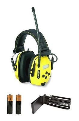 Stanley SYNC Digital AM/FM/MP3 Radio Noise Reduction Headphones BELT CLIP 2AA by The ROP Shop