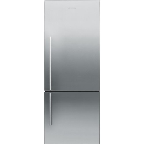 Fisher Paykel RF135BDRX4 25″ 13.4 cu. ft. Right Hinge Counter Depth Bottom Freezer Refrigerator With Glass Shelves ActiveSmart Technology LED Lighting and Humidity Control System in Stainless