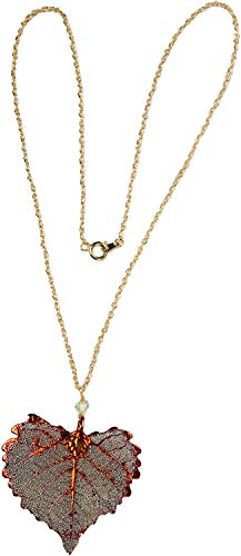 Necklace - Cottonwood Leaf Pendant, Iridescent