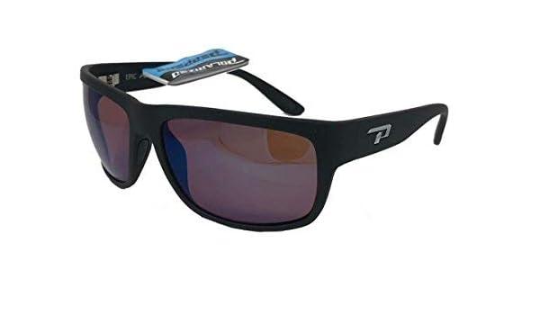 e2f1621523 Amazon.com  New Peppers Polarized Sunglasses Orca Matte Black with Rose  Polarized Blue Lens  Clothing