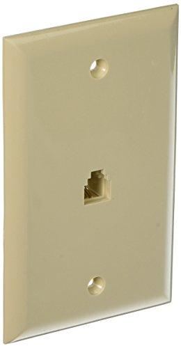 Morris 80013 Single RJ11 4 Conductor Phone Jack Wall Plate, Almond