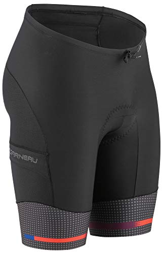 Louis Garneau Men's Pro 9.25 Carbon Padded Triathlon Bike Shorts with Pockets, Pop, Medium ()
