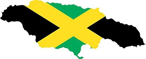 StickerTalk 5in x 2in Die Cut Jamaica Flag Sticker