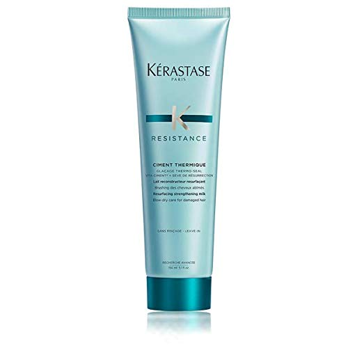 Kerastase Paris Resistance Ciment Thermique Conditioner, 5.1 ounce(150ml) (Best Leave In Conditioner For Dry Hair Uk)