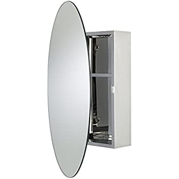 Croydex Tay Stainless Steel Oval Medicine Cabinet With