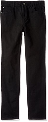 The Children's Place Big Boys' Skinny Jeans, Black WASH 5794, 16