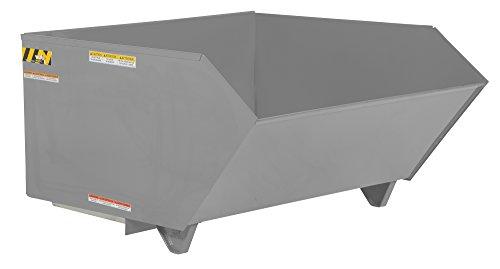 Vestil H-100-MD-GY-SG Self Dumping Hopper MD, 1 cu. yd, 4000 lb. Capacity, 51.25