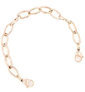 Ladies Rose Gold Stainless Link Medical ID Replacement Bracelet by Fashion Alert