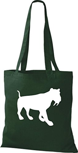Unbekannt - Bolso de tela de algodón para mujer Verde