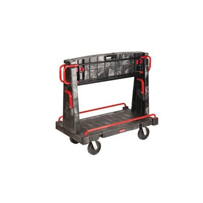 A-Frame Truck with 2 Shelves in Black