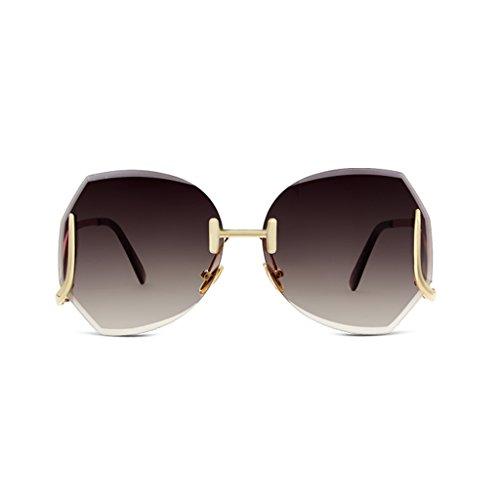 Gafas Color The Edge Personalidad Cut Redondas Cara Gafas Polygonal Street Coreana Larga Gafas De Beat YUBIN Red New Trend Versión Black Sol Red De xwB6xCq