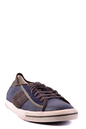 D.A.T.E. Sneakers Uomo MCBI084002O Pelle Blu/Marrone
