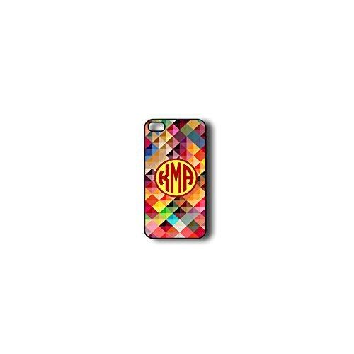 Krezy Case Monogram iPhone 4s Case, Colorful geometric Pattern Monogram iPhone 4s Case, Monogram iPhone 4s Case...