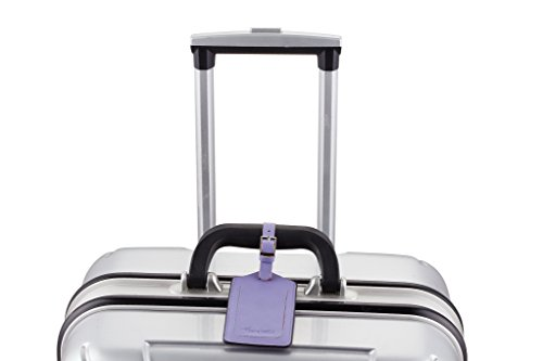 1d39d663c3f6 Travelambo Leather Luggage Bag Tags (Purple 5343 Classic - Import It All