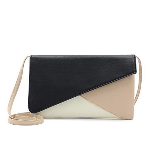 Black pour Size Femme One White à bandoulière Envelope Sacs Fq6wpC