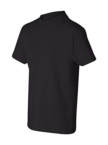 Hanes Authentic Tagless Kid`s Cotton T-Shirt Black