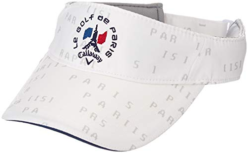 [キャロウェイ アパレル][メンズ] ツイル サンバイザー (サイズ調整可能) / 241-8284501 / 帽子 ゴルフ メンズ