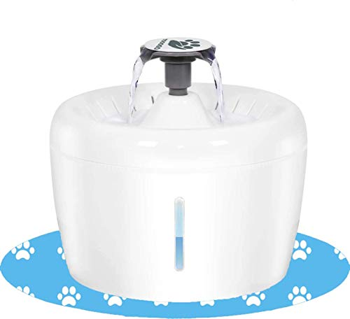 TOOOGO Cat Water Fountain 84oz/2.5L Pet Drinking Fountain Automatic Water Dispenser for Cats and Dogs